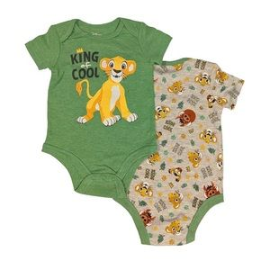 New Lion King 2 Pack Bodysuits